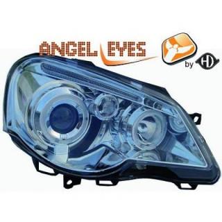 Angel eyes koplampen Volkswagen Polo 9N3 - Chroom