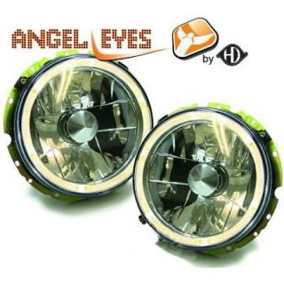 Angel eyes koplampen Volkswagen Golf 1 - Chroom