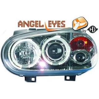 Angel eyes koplampen Volkswagen Golf 4 - Chroom
