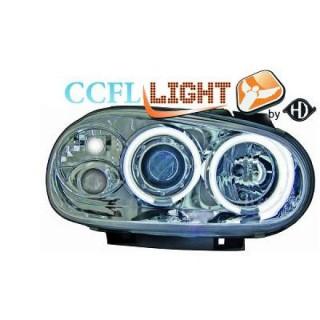 CCFL Angel eyes koplampen Volkswagen Golf 4 - Chroom