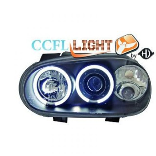 CCFL Angel eyes koplampen Volkswagen Golf 4 - Zwart