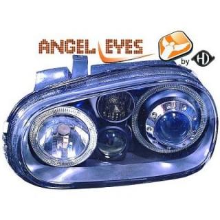 Angel eyes koplampen Volkswagen Golf 4 - Zwart