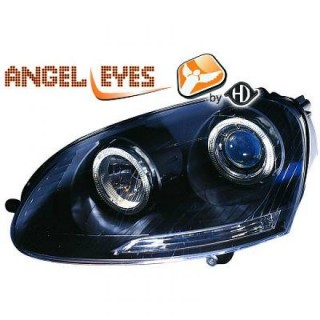 Angel eyes koplampen Volkswagen Golf 5 - Zwart