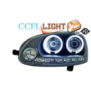 CCFL Angel eyes koplampen Volkswagen Golf 5 - Zwart