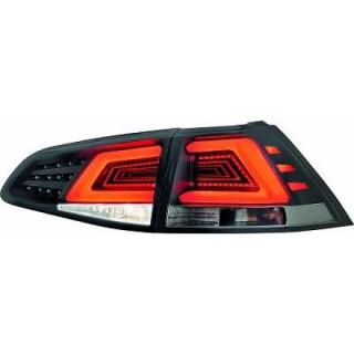 LED Achterlichten Volkswagen Golf 7 - Zwart/Smoke