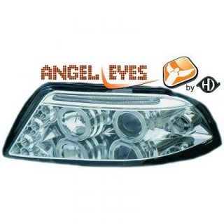 Angel eyes koplampen Volkswagen Passat B5 - Chroom