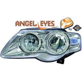 Angel eyes koplampen Volkswagen Passat B6 - Chroom