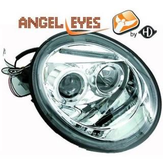Angel eyes koplampen Volkswagen Beetle - Chroom