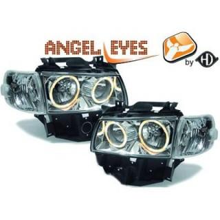 Angel eyes koplampen Volkswagen Transporter T4 - Chroom