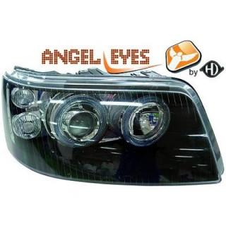 Angel eyes koplampen Volkswagen Transporter T5 - Zwart