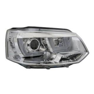 Koplampen met LED Dagrijverlichting VW T5   - Chroom