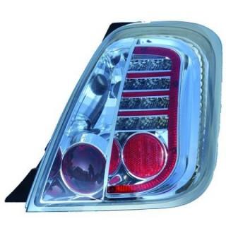 LED Achterlichten Fiat 500 - Chroom