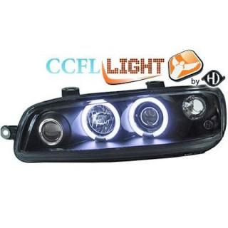 CCFL Angel eyes koplampen Fiat Punto - Zwart