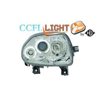 CCFL Angel eyes koplampen Renault Clio - Chroom