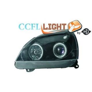 CCFL Angel eyes koplampen Renault Clio - Zwart