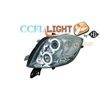 CCFL Angel eyes koplampen Toyota Yaris - Chroom