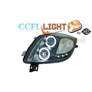 CCFL Angel eyes koplampen Toyota Yaris - Zwart