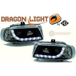Koplampen met LED verlichting Seat Ibiza 6K - Zwart