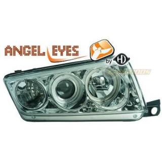 Angel eyes koplampen Skoda Fabia - Chroom