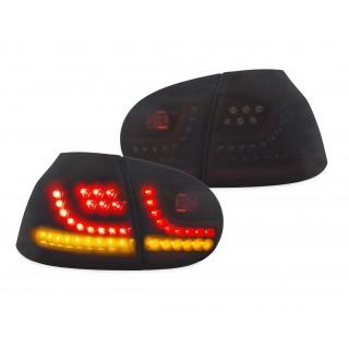 Zwarte LED Achterlichten VW Golf 5 - met dynamische LED knipperlichten