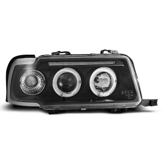 Angel Eyes Koplampen AUDI 80 B4 - Zwart