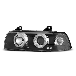 Angel Eyes Koplampen Bmw 3-Serie E36 Coupe, Cabrio - Zwart
