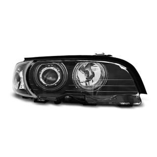 CCFL Angel Eyes Koplampen Bmw 3-Serie E46  COUPE, CABRIO  - Zwart