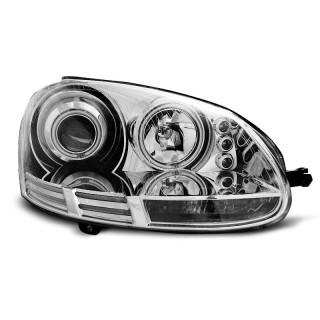 CCFL Angel Eyes Koplampen VW GOLF 5  - Chroom