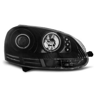 CCFL Angel Eyes Koplampen VW GOLF 5  - Zwart