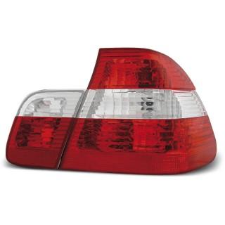 Achterlichten Bmw 3-Serie E46 Sedan - Rood/Wit