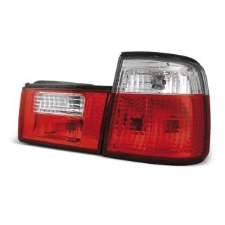 Achterlichten Bmw 5-Serie E34 Sedan - Rood/Wit