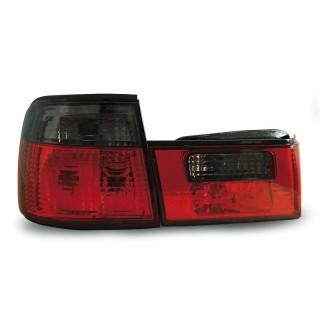 Achterlichten Bmw 5-Serie E34 Sedan - Rood/Smoke