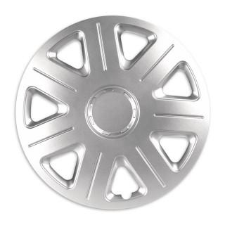 Wieldoppen Master zilver 15 inch - 4 stuks