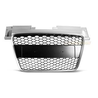RS-Look Embleemloze grille AUDI TT  Zilver