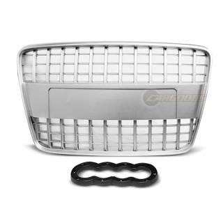 S-Line Look Embleemloze grille AUDI Q7  Zilver