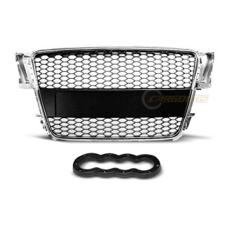 RS-Look Embleemloze grille AUDI A5  - Chroom