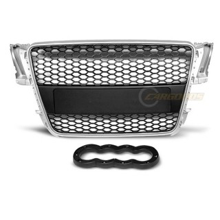 RS-Look Embleemloze grille AUDI A5  Zilver