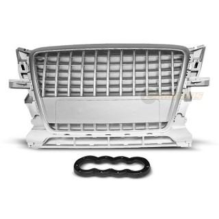 S-Line Look Embleemloze grille AUDI Q5  - Zilver