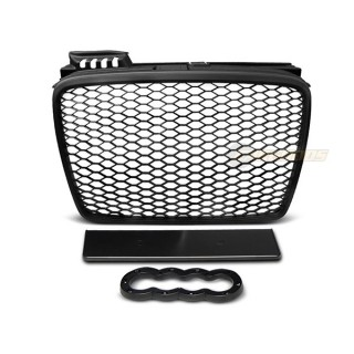 RS-Look Embleemloze grille AUDI A4 (B7)   - Mat zwart