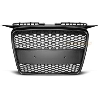 RS-Look Embleemloze grille AUDI A3 8P - Mat zwart