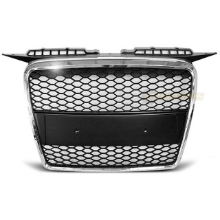 RS-Look Embleemloze grille AUDI A3 8P - Chroom
