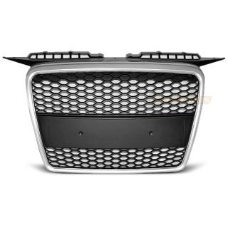 RS-Look Embleemloze grille AUDI A3 8P - Mat zilver