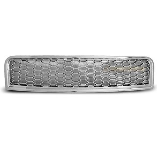 RS-Look Embleemloze grille AUDI A4 (B6)   - Chroom