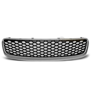 RS-Look Embleemloze grille AUDI TT   - Mat zilver