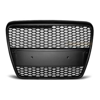 RS-Look Embleemloze grille AUDI A6 (C6)   - Mat zwart