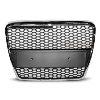 RS-Look Embleemloze grille AUDI A6 (C6)   - Chroom