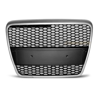 RS-Look Embleemloze grille AUDI A6 (C6)   - Mat zilver