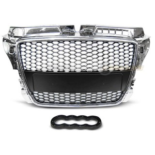Embleemloze grille GRILL AUDI A3 (8P)   - Chroom