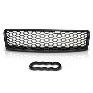 RS-Look Embleemloze grille AUDI A6 (C5)   - Mat Zwart