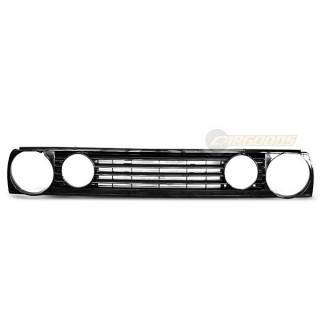 GTI-Look Embleemloze grille GTI-TYPE VW GOLF 2  - Zwart